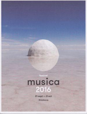 Musica, 2016, Catalogue du festival Musica 2016.